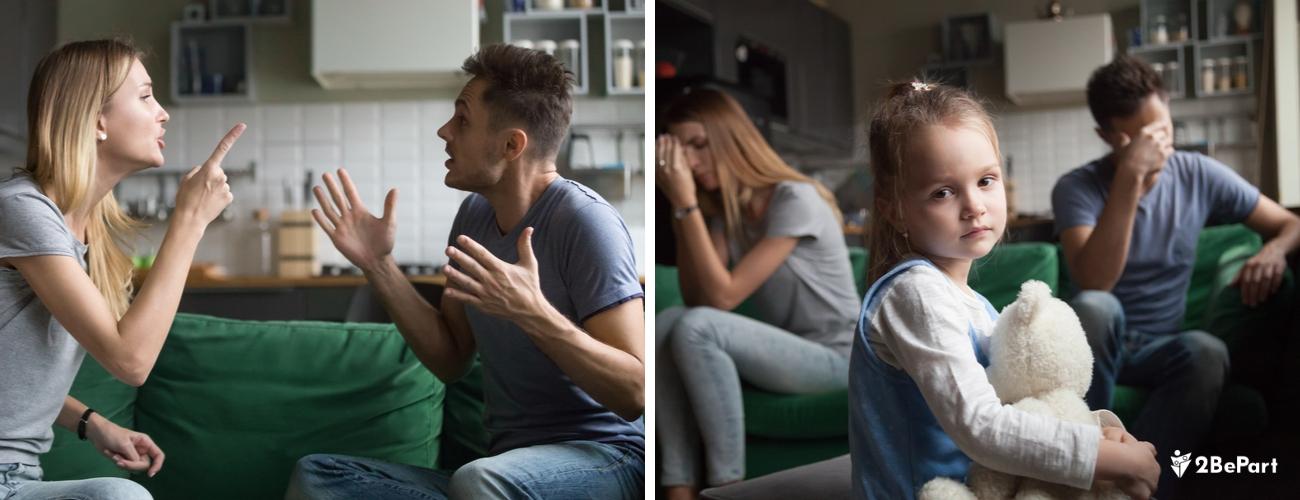 ante un divorcio hay diferentes formas de llevarlo bien por el bien de los niños