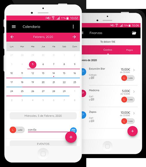 funcionalidades de la app para padres separados